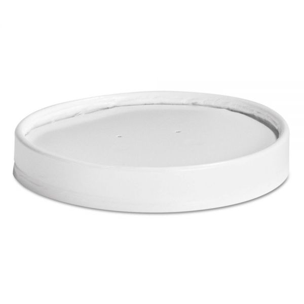 Chinet Vented Paper Lids, 16-32oz Cups, White, 25 Lids/Sleeve, 20 Sleeves/Carton
