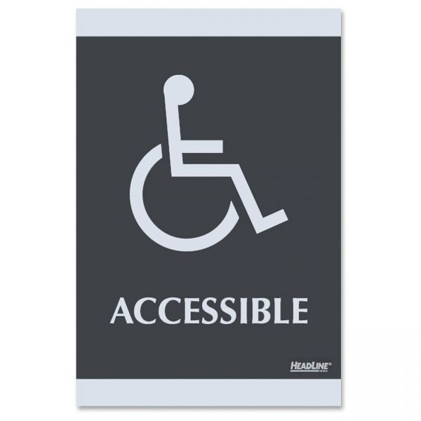 "U.S. Stamp & Sign ""Handicap Accessible"" Sign"