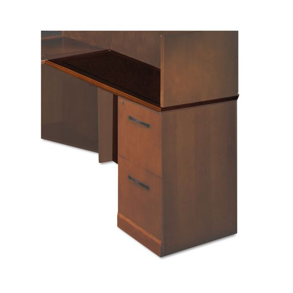 "Tiffany Industries Sorrento Series Right Return Top with Modesty Panel, 48"" Wide, Bourbon Cherry"
