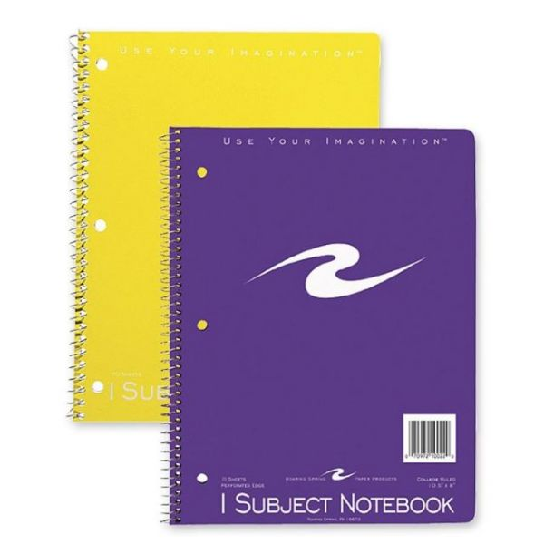 Roaring Spring College Ruled Spiral Notebook
