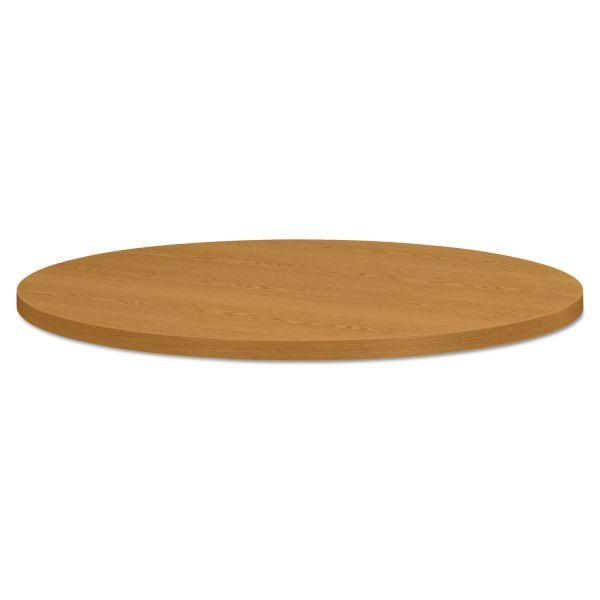 "HON Self-Edge Round Hospitality Table Top, 36"" Diameter, Harvest"