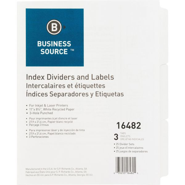 Business Source Index Dividers