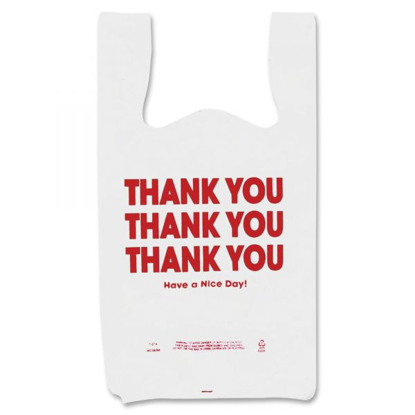 "COSCO ""Thank You"" T-Shirt Plastic Grocery Bags"