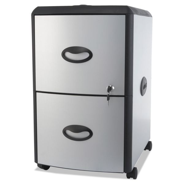 Storex Two-Drawer Mobile Filing Pedestal