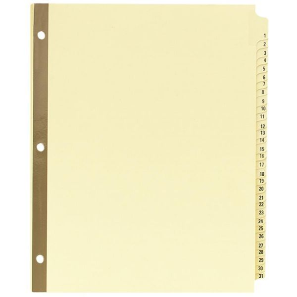 Avery Laminated Numbered Tab Index Dividers