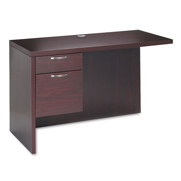 HON Valido 11500 Series Left Return, 48w x 24d x 29 1/2h, Mahogany