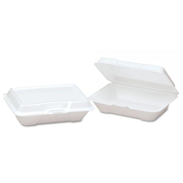 Genpak Shallow Takeout Foam Clamshell Food Containers