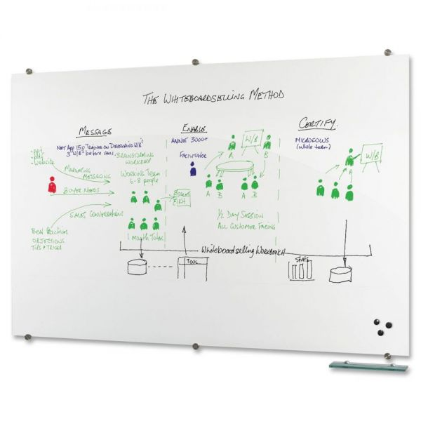 Best-Rite Visionary 8' x 4' Glass Dry Erase Board