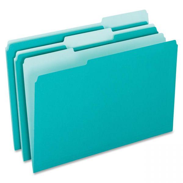 Pendaflex Aqua Colored File Folders
