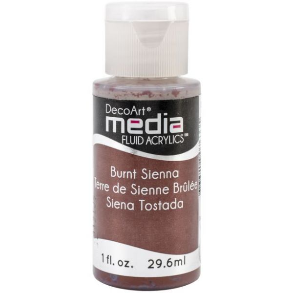Deco Art Burnt Sienna Media Fluid Acrylic