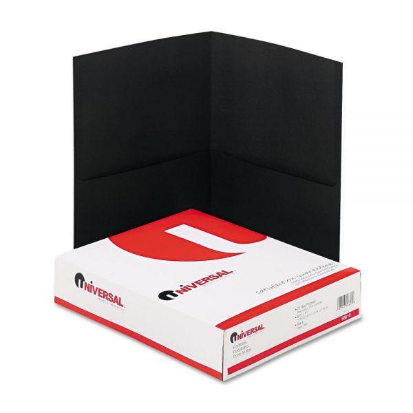 Universal Black Two Pocket Folders
