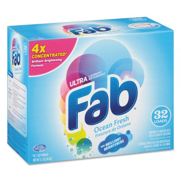 Fab 2X Powdered Laundry Detergent