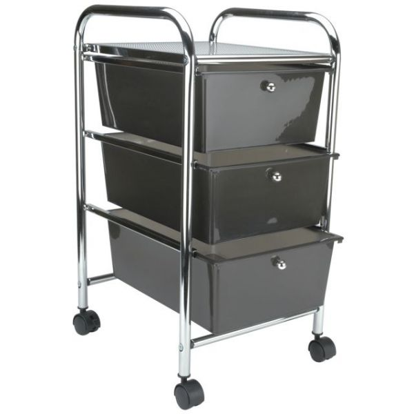 Cropper Hopper Home Center Rolling Cart W/3 Drawers