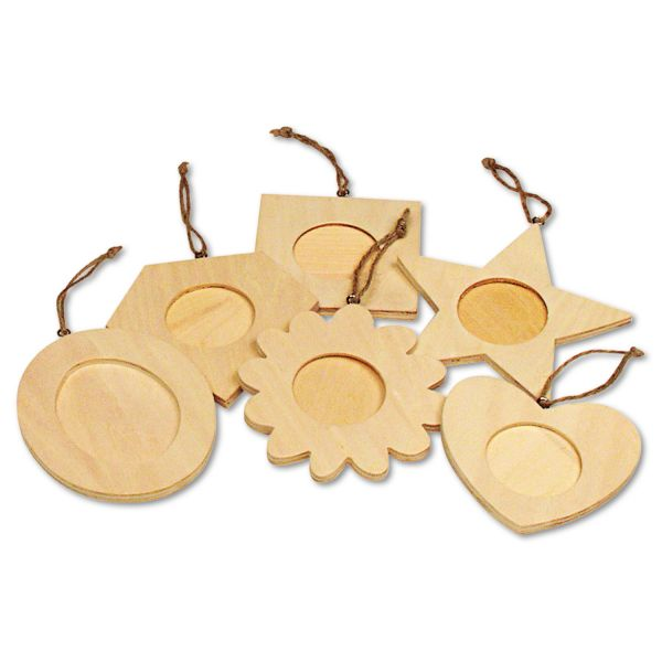 Creativity Street Wood Frame Ornaments