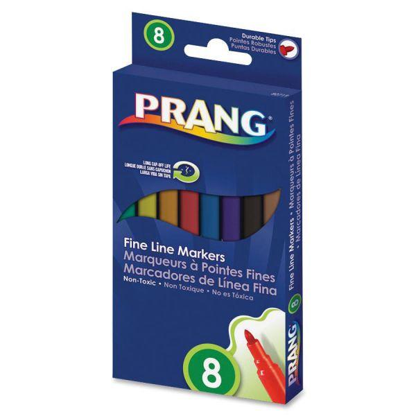 Dixon Prang Washable Markers, Fine Point, 8 Assorted Colors, 8/set