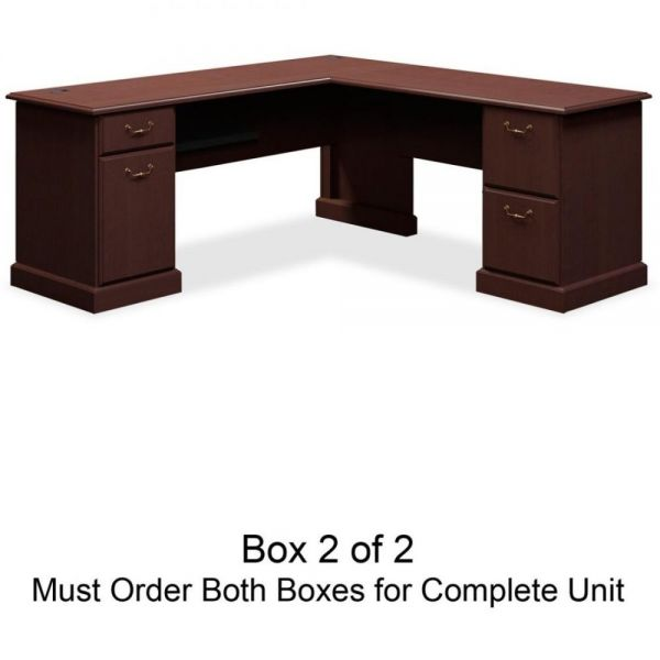 bbf Syndicate L-Shaped Office Desk by Bush Furniture *Box 2 of 2