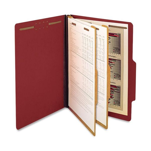 SJ Paper Recycled Red Pressboard Classification Folders