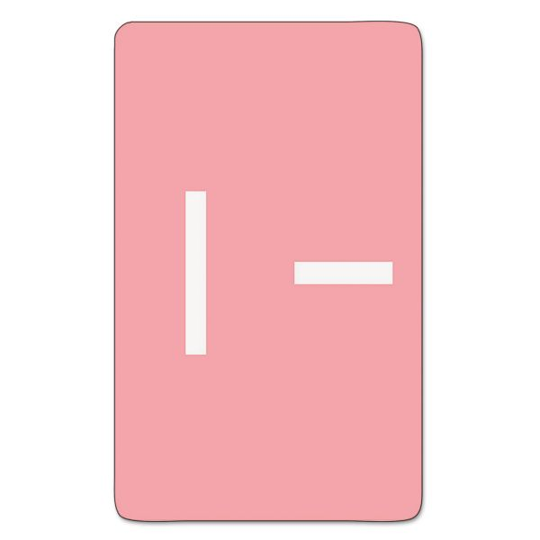 Smead Alpha-Z Color-Coded Second Letter Labels, Letter I, Pink, 100/Pack