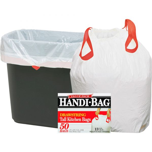 Webster Handi-Bag 13 Gallon Drawstring Trash Bags
