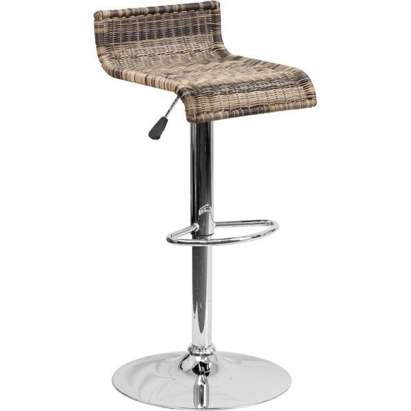 Flash Furniture Wicker Adjustable Height Barstool