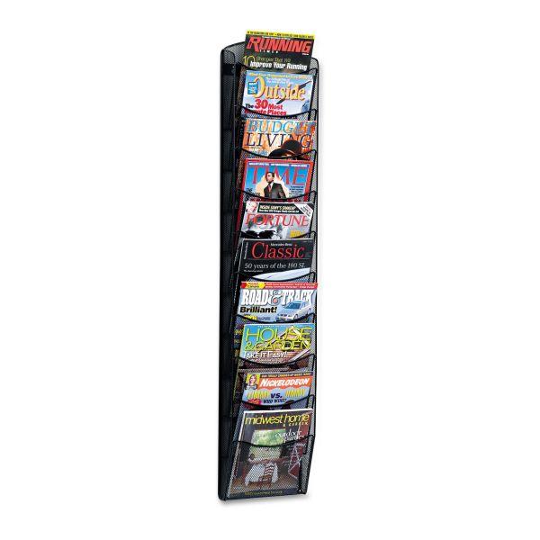 Safco 10-pocket Onyx Mesh Literature Rack