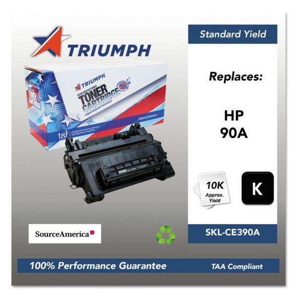 Triumph 751000NSH1221 Remanufactured CE390A (90A) Toner, Black