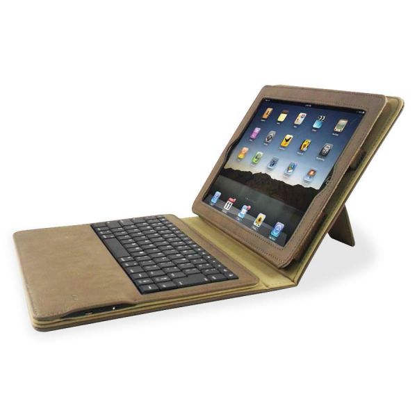 Compucessory Keyboard/Cover Case (Portfolio) for iPad - Tan