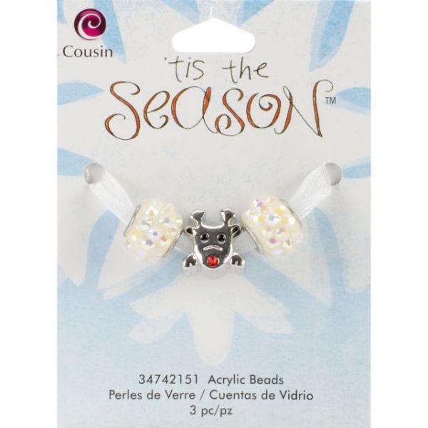 Tis The Season Large Hole Beads