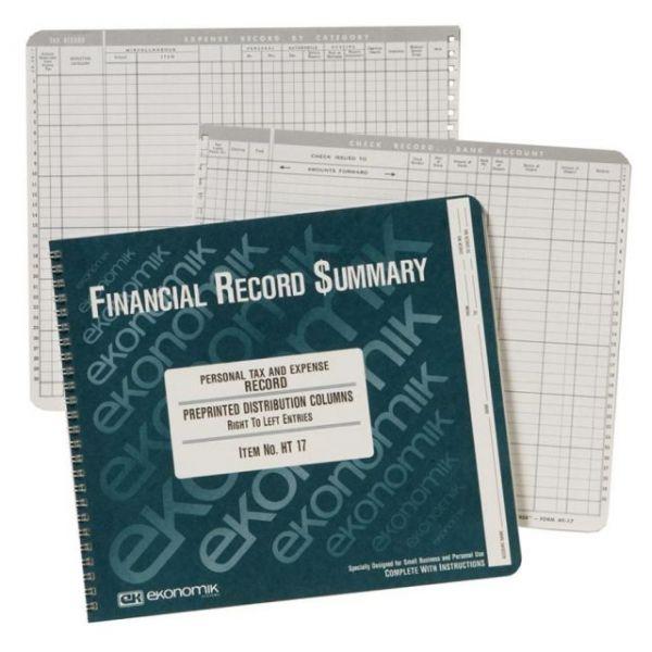 Ekonomik Home Treasurer Expense Register