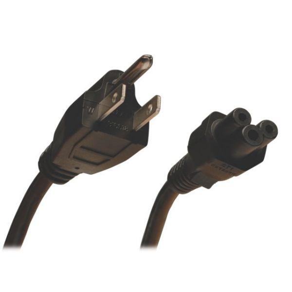 Tripp Lite Standard Laptop/Notebook Power Cord, 10A (NEMA 5-15P to IEC-320-C5), 3-ft.
