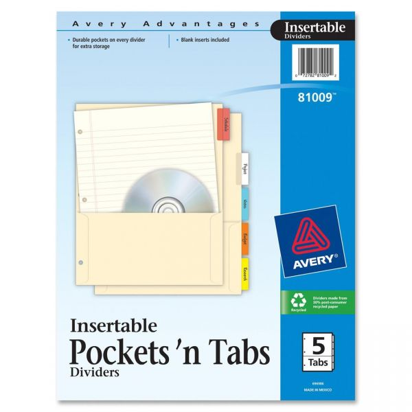 Avery Insertable Pockets 'n Tabs Index Dividers