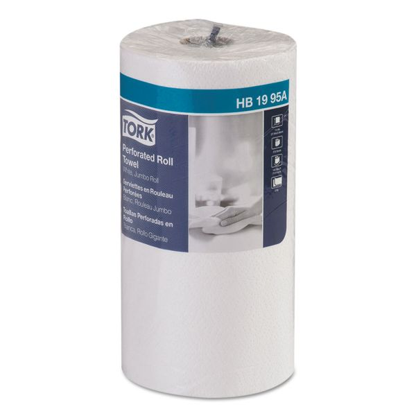 "Tork Universal Perforated Towel Roll, 2-Ply,11""Wx9""L, White, 210 Sheets/Roll,12RL/Ctn"