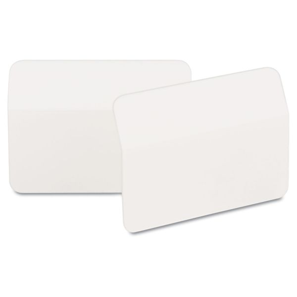 Post-it Tabs Angled Tabs, 2 x 1 1/2, White, 50/Pack