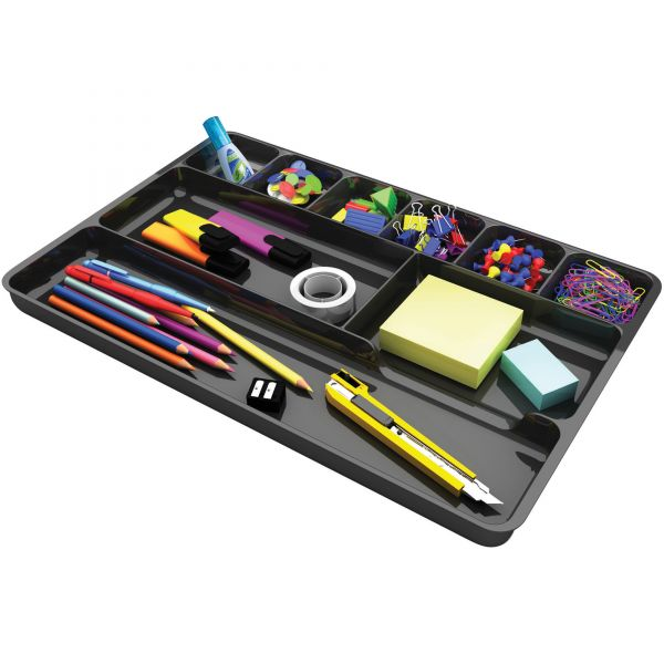 deflecto Plastic Desk Drawer Organizer