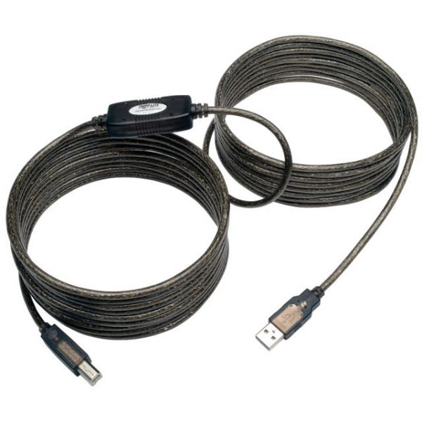 Tripp Lite USB 2.0 Hi-Speed A/B Active Repeater Cable (M/M) 25-ft.