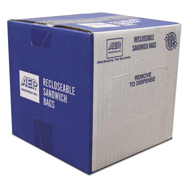 Handi-Bag Recloseable Zipper Seal Sandwich Bags, 1.15mil, 6.5 x 5.875, Clear, 500/Box