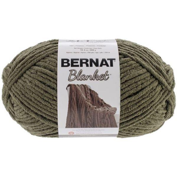 Bernat Blanket Big Ball Yarn - Olive