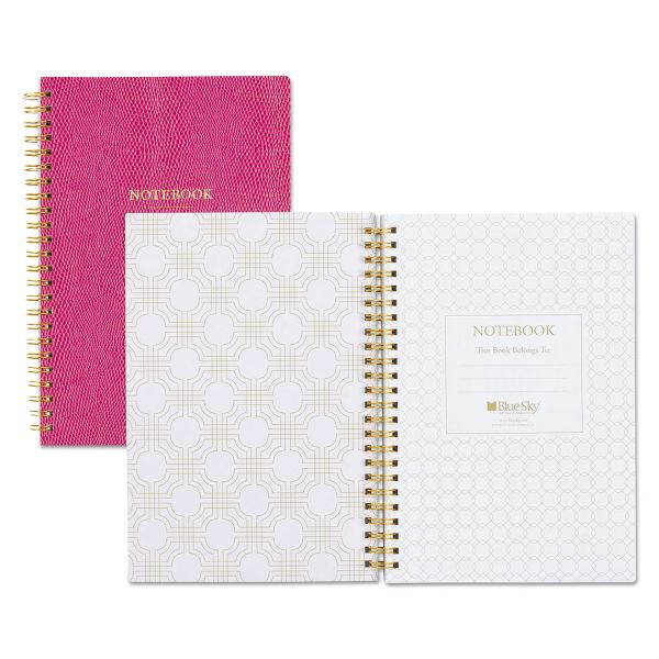 "Blue Sky Notebook, Ruled, 5.75"" x 8.5"", 80 Pages, Berry"