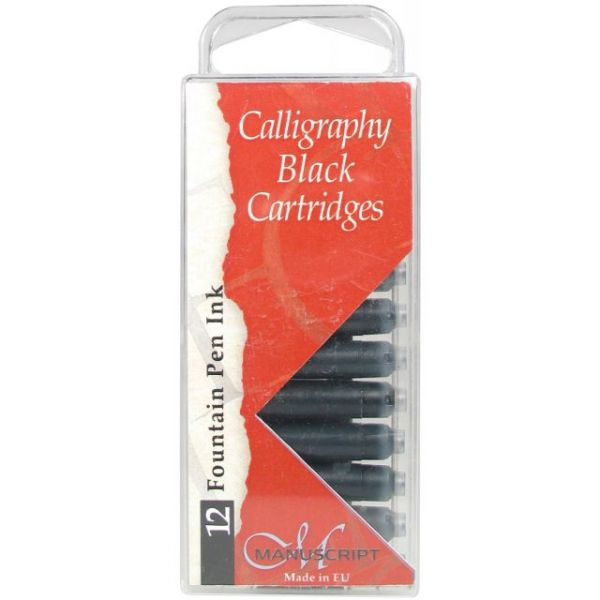 Manuscript Fountain Pen Ink Calligraphy Cartridges 12/Pkg