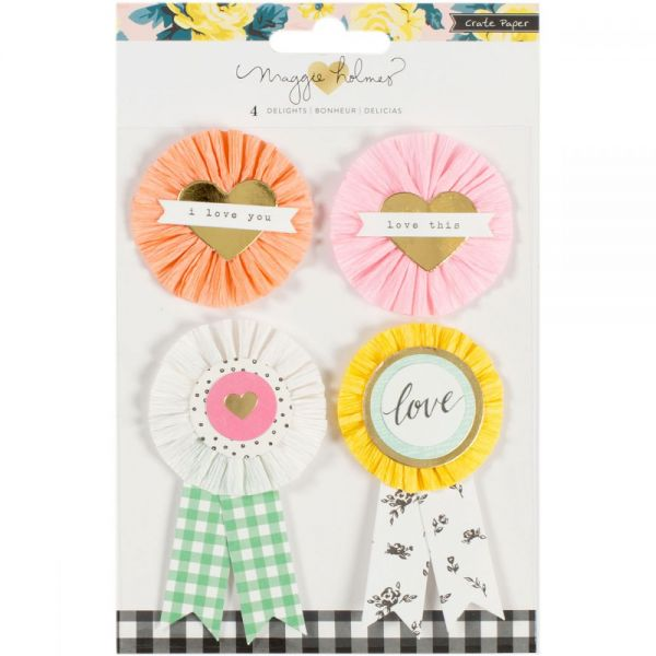 Maggie Holmes Bloom Standouts Embellishments 4/Pkg