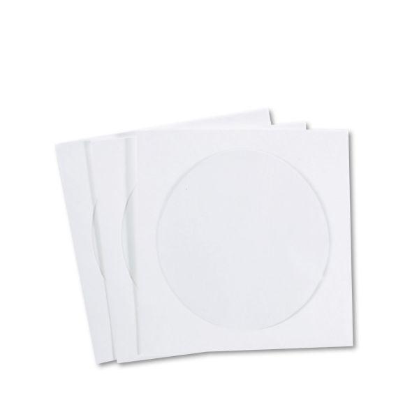 Quality Park CD/DVD Sleeves, Moisture-Resistant TYVEK Material, 100/Box