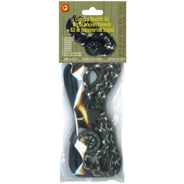 Parachute Cord Compass Bracelet Kit