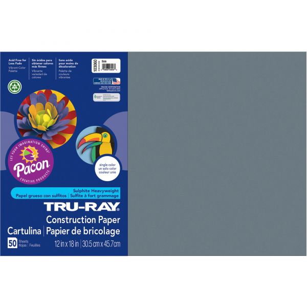 Tru-Ray Gray Construction Paper