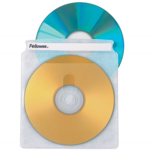 Fellowes Two-Sided CD/DVD Sleeve Refills for Softworks File, 25/Pack