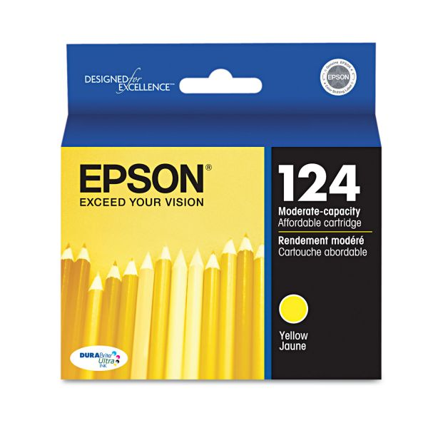 Epson 124 Yellow Ink Cartridge (T124420)