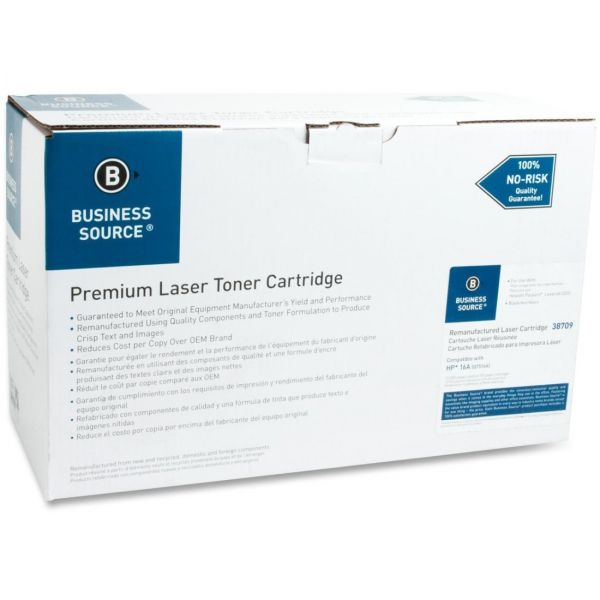 Business Source Remanufactured HP 16A (Q7516A) Toner Cartridge