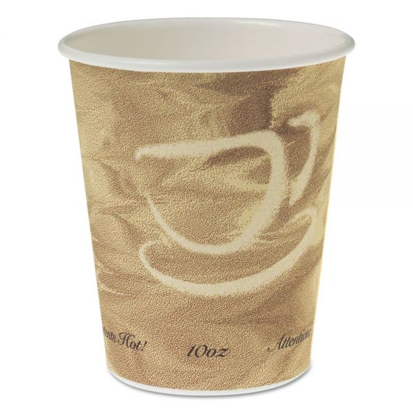 Dart Single Sided Poly Paper Hot Cups, 10 OZ, Mistique design, 50/Bag, 20 Bags/Carton