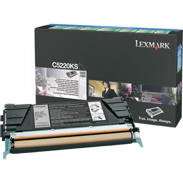 Lexmark C5220KS Toner, 4000 Page-Yield, Black
