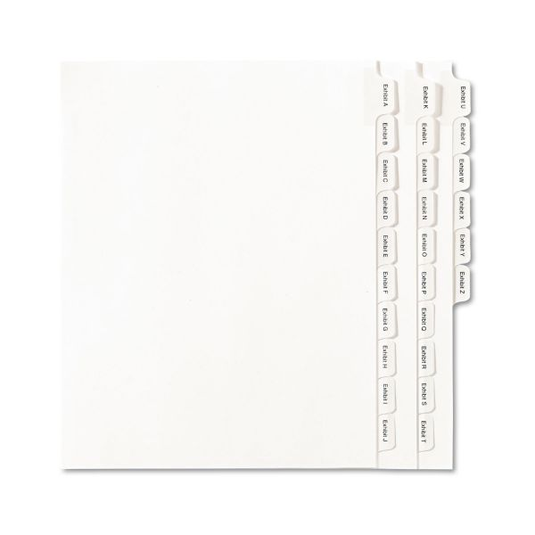 Avery A-Z Legal Exhibit Index Dividers