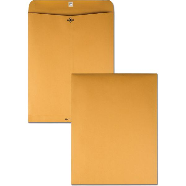 "Quality Park Gummed 12"" x 15 1/2"" Clasp Envelopes"